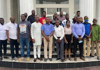 Workshop participants at the Network Monitoring and Management workshop held in Ekiti, Nigeria