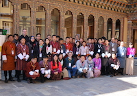 Linux System Administration workshop group picture from SANOG 33 held in Thimphu, Bhutan