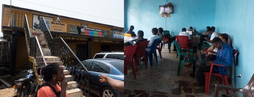 Mar: LRREN-USAID-Chemonics Campus Site Visits, Monrovia, Liberia